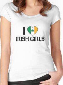 I Love Irish Girls Women's Fitted Scoop T-Shirt