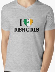 I Love Irish Girls Mens V-Neck T-Shirt