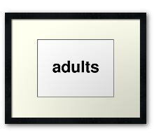 adults Framed Print