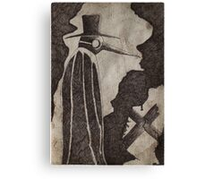 ..The PLague Doctor 1... Canvas Print