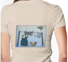 the washer woman & her nemesis... (oh crap!) - tee Womens Fitted T-Shirt