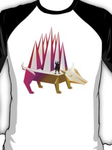 Isaac Newton and Dog Prism T-Shirt