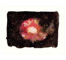 Warm Nebula Art Print