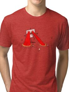 Pink Robot With Lasers Tri-blend T-Shirt