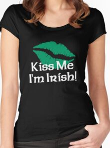 Kiss Me I'm Irish Women's Fitted Scoop T-Shirt