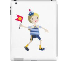 Boy role game playing as a sailor. iPad Case/Skin