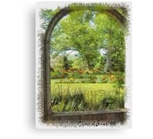 Gardens in Nova Scotia Canvas Print