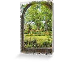 Gardens in Nova Scotia Greeting Card