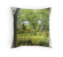 Gardens in Nova Scotia Throw Pillow