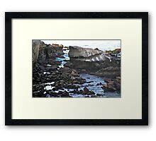 Stones and Tidepools Framed Print