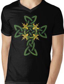 Irish Cross Mens V-Neck T-Shirt