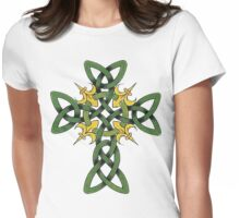 Irish Cross Womens Fitted T-Shirt