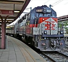 Shoreline East With NH RR Colors and Markings at New London, CT - US by Jack McCabe