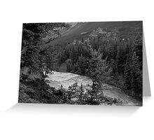 Banff Springs Hotel (BW) Greeting Card