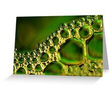Green Glass Bubbles Greeting Card