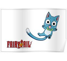 Happy the exceed wizard of fairy tail Poster
