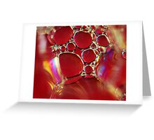 Little Red Bubbles Greeting Card