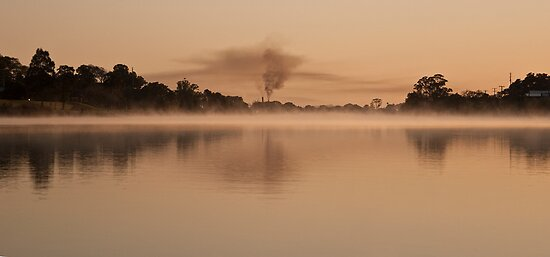 Early morning mist on the river by Odille Esmonde-Morgan