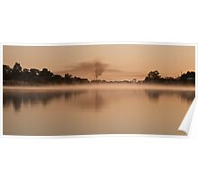 Early morning mist on the river Poster