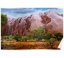 Waterfalls on Ayres Rock Poster