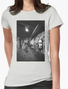 Seattle, Post Alley murals Womens Fitted T-Shirt