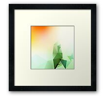 Abstract Gemometric - Green Edition Framed Print