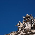 Angel statues on Trevi Fountain, Rome by Daniel Pertovt