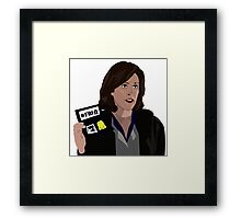 Agent Monica reyes FBI Framed Print