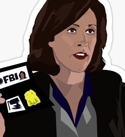 Agent Monica reyes FBI Sticker