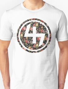 47 RED PINK YELLOW FLORAL CIRCLE Unisex T-Shirt