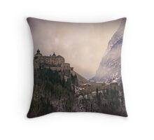 Hohenwerfen Burg, Austria Throw Pillow