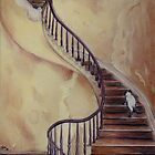 Cat on the Stairs by Sarah  Mac