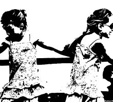 Girls dancing_Silhouette by Clive Reedman