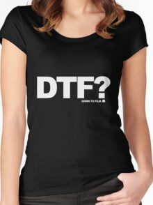 DTF? Women's Fitted Scoop T-Shirt