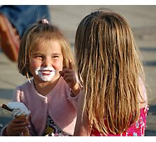 Trix a sister and an ice cream Photographic Print