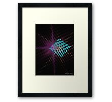 Starry Blue Box Framed Print