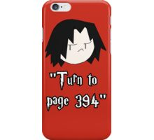 Turn to page 394 iPhone Case/Skin