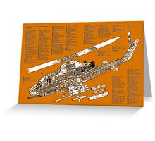 Bell Hueycobra AH 1S helicopter Greeting Card