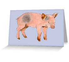Little Piggy Greeting Card