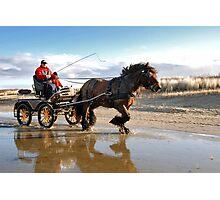 A beach ride Photographic Print