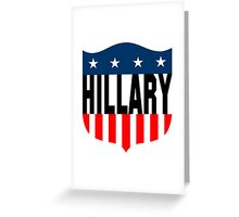 hillary clinton crest Greeting Card