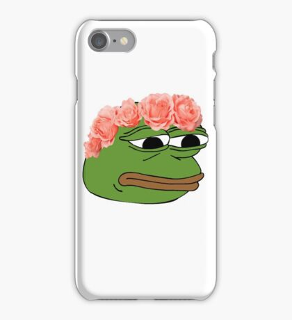 Flower Crown Pepe Frog iPhone Case/Skin
