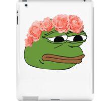 Flower Crown Pepe Frog iPad Case/Skin