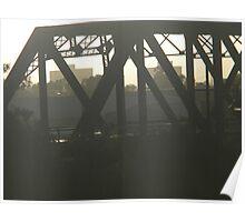 morning light - Melbourne bridge Poster