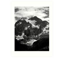 glacier on mt shuksan Art Print