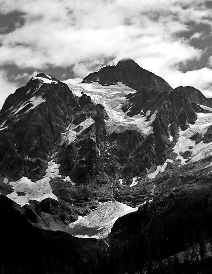 glacier on mt shuksan by dedmanshootn