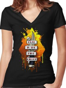 Fear is the Mind Killer.  Women's Fitted V-Neck T-Shirt