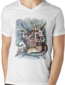 Shipwreck Scene Mens V-Neck T-Shirt