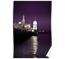 Cunningham Pier In Purple Poster