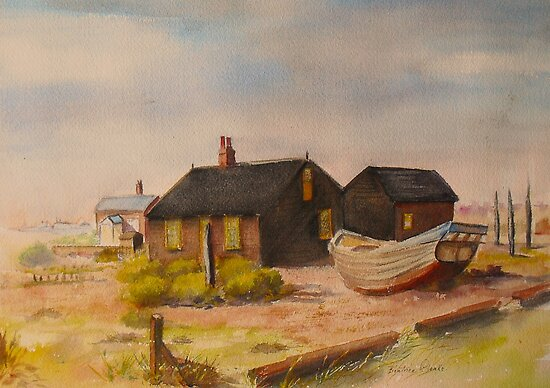 Derek Jarman's cottage by Beatrice Cloake